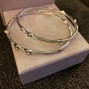 Silver and cz bangles